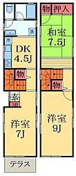 [一戸建] 千葉県千葉市中央区仁戸名町 の賃貸【/】の間取り