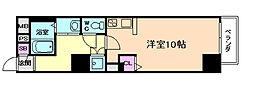イーストヴィラ梅田[4階]の間取り
