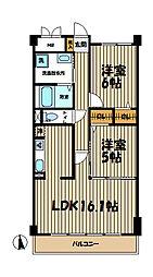 神奈川県藤沢市藤が岡3丁目の賃貸マンションの間取り