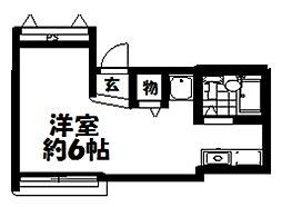 ストークアパートメント禁野本町[4階]の間取り