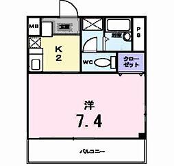 ム−ン・リバ−[1階]の間取り