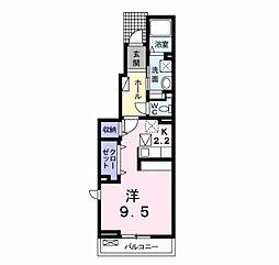 紫陽花はうす B[1階]の間取り