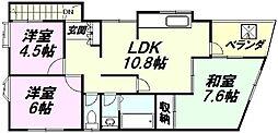 [一戸建] 東京都八王子市明神町3丁目 の賃貸【東京都 / 八王子市】の間取り