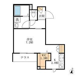 仮)戸塚町メゾン[102号室]の間取り