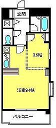 ディアコート六番館[4階]の間取り