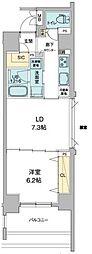 JR山手線 秋葉原駅 徒歩9分の賃貸マンション 9階1LDKの間取り