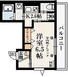 Maison de Richesse 3階1Kの間取り