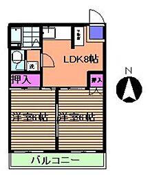 ヤマトビル[506号室]の間取り