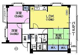 サニーヒル大泉[3階]の間取り