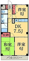 千葉県千葉市緑区あすみが丘4丁目の賃貸マンションの間取り