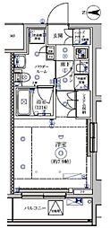 都営三田線 蓮根駅 徒歩8分の賃貸マンション 9階1Kの間取り