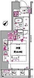 都営三田線 西巣鴨駅 徒歩4分の賃貸マンション 5階ワンルームの間取り