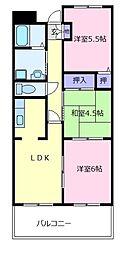 ファラン松原[2階]の間取り
