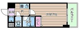 JR大阪環状線 桃谷駅 徒歩8分の賃貸マンション 3階1Kの間取り