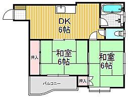 小阪ビル[6階]の間取り