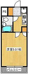 ワコーレリバーサイド多摩川II[5階]の間取り