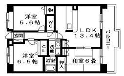 カーサフェリーチェ淡海[1階]の間取り