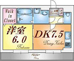 アクロス東須磨アパートメント[2階]の間取り