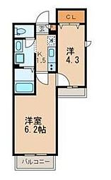 東京都大田区本羽田1丁目の賃貸アパートの間取り