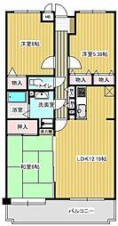 パレ・グランドール篠栗駅[5階]の間取り