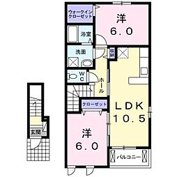 サン・パーク[2階]の間取り