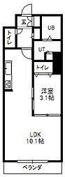 北海道札幌市中央区南一条東2丁目の賃貸マンションの間取り