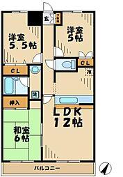 神奈川県川崎市麻生区五力田2丁目の賃貸マンションの間取り