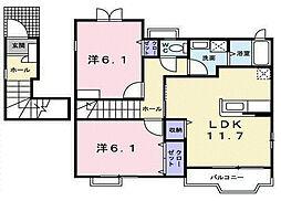 ガーデンシティB[2階]の間取り