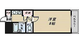 大阪府堺市堺区南三国ヶ丘町6丁の賃貸マンションの間取り