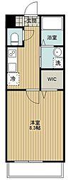 西武池袋線 清瀬駅 徒歩14分の賃貸アパート 2階1Kの間取り