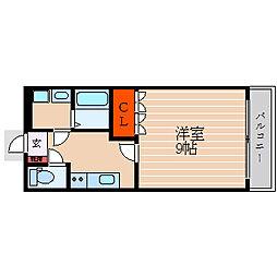 滋賀県彦根市戸賀町の賃貸マンションの間取り