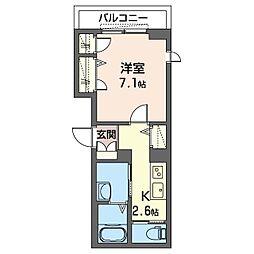 仮)板橋区清水町シャーメゾン 3階1Kの間取り
