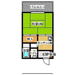 井上アパート[6号室]の間取り