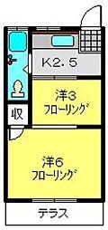 上野マンション[103号室]の間取り