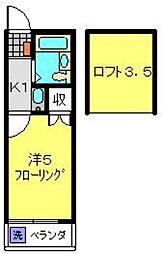 オーパス1二俣川[203号室]の間取り