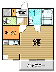 フォレストメゾン須磨寺[1階]の間取り