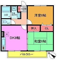 千葉県船橋市宮本2丁目の賃貸アパートの間取り
