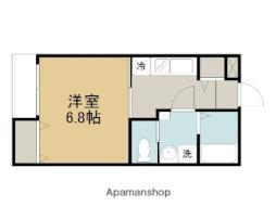 西武池袋線 稲荷山公園駅 徒歩10分の賃貸アパート 2階1Kの間取り