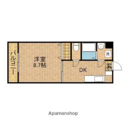 バス 神戸下車 徒歩5分の賃貸マンション 1階1DKの間取り