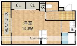 JR東海道本線 浜松駅 バス12分 三島町下車 徒歩2分の賃貸マンション 3階ワンルームの間取り