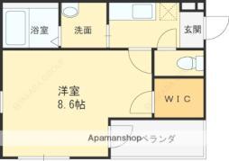 JR片町線(学研都市線) 徳庵駅 徒歩7分の賃貸アパート 3階1Kの間取り