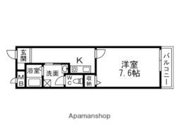 阪急京都本線 淡路駅 徒歩4分の賃貸マンション 4階1Kの間取り