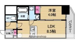プレサンス北浜オリジン 9階1LDKの間取り