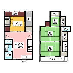 [一戸建] 愛知県名古屋市中村区鳥居通5丁目 の賃貸【/】の間取り