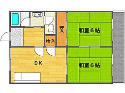 福井マンション[3階]の間取り