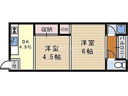 東京ハイツ[1階]の間取り