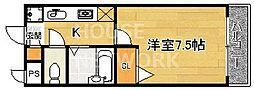 京都府京都市中京区西ノ京南上合町の賃貸マンションの間取り