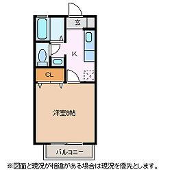 ボヌールニシ[1階]の間取り
