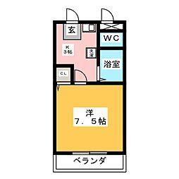 プレズ名古屋柴田[3階]の間取り