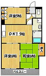 原第8マンション[2階]の間取り
